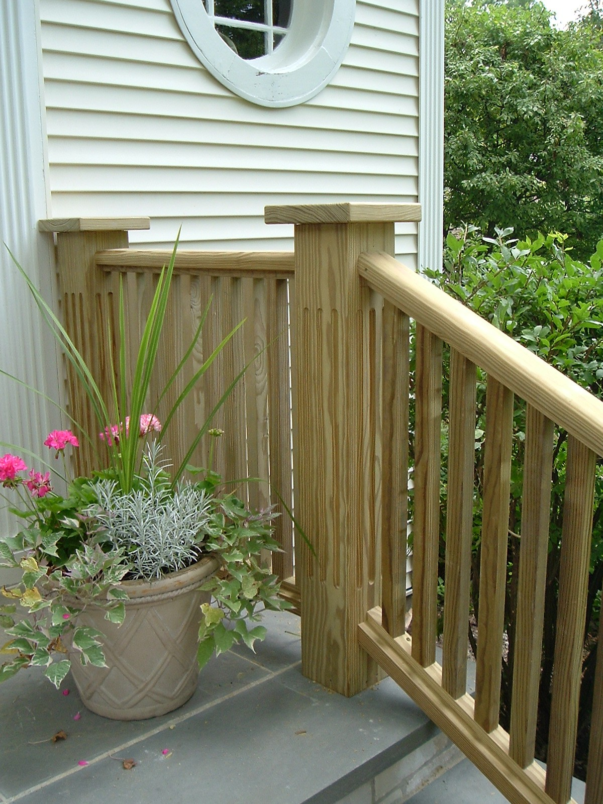 Fluted Porch Railing